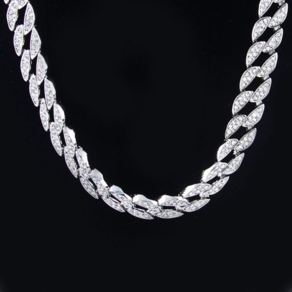 Fashion Mens Full Iced Out Silver Gold Color Miami Cuban Hip Hop Link Chian Bling  Bling Necklace 30inch Hot Promotion Necklace 6a6c6023f22f