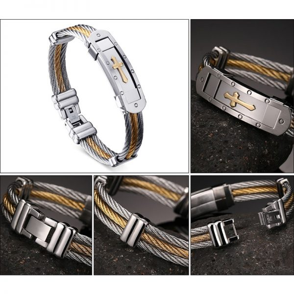 XUANPAI-Mens-Stainless-Steel-Cross-ID-Bracelet-Bangle-Two-Tone-Cable-Rope-Twist-Chain-Gold-and-1.jpg