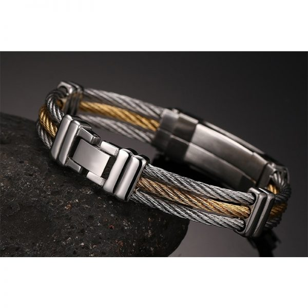 XUANPAI-Mens-Stainless-Steel-Cross-ID-Bracelet-Bangle-Two-Tone-Cable-Rope-Twist-Chain-Gold-and-3.jpg