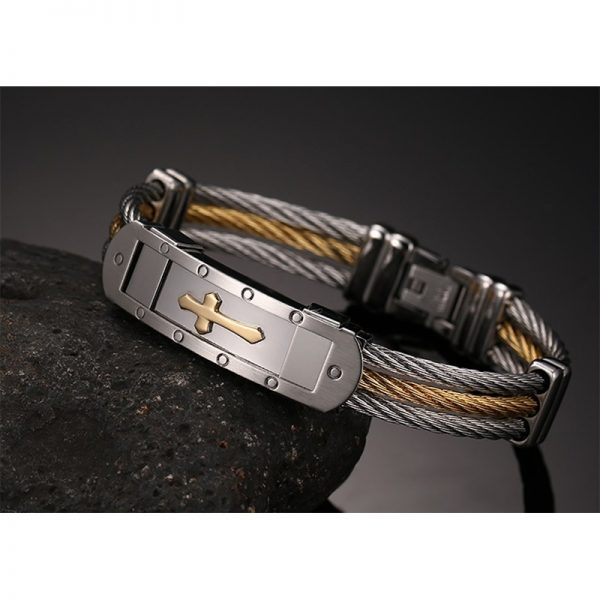 XUANPAI-Mens-Stainless-Steel-Cross-ID-Bracelet-Bangle-Two-Tone-Cable-Rope-Twist-Chain-Gold-and-4.jpg